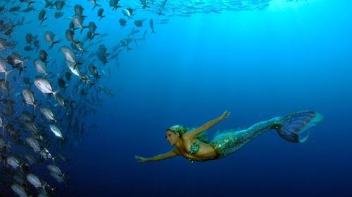 Красивое фото Ханны Фрейзер под водой
