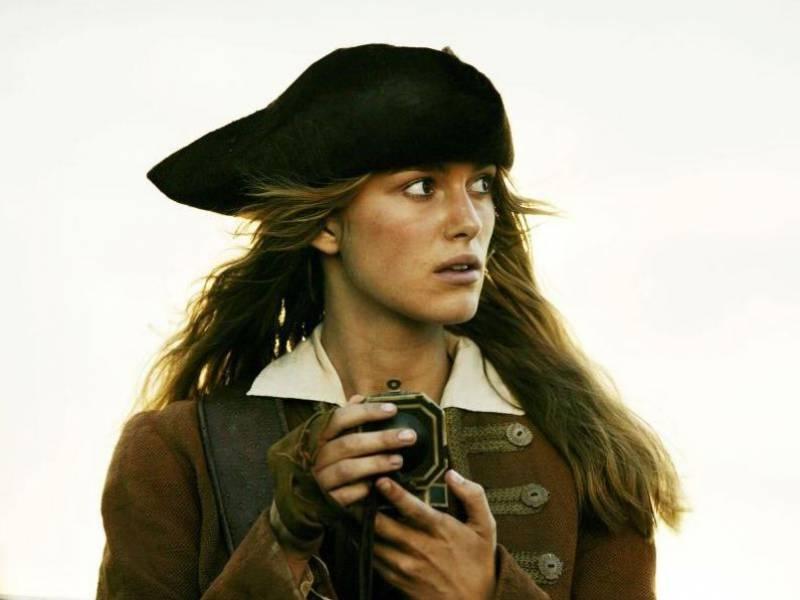 Кира Найтли в Пиратах Карибского моря