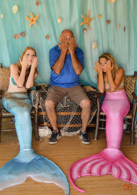 Две русалки под ником M&M Mermaids на мероприятиях