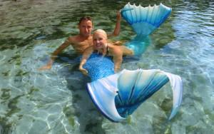 Мелисса с мужем в свадебном путешествии