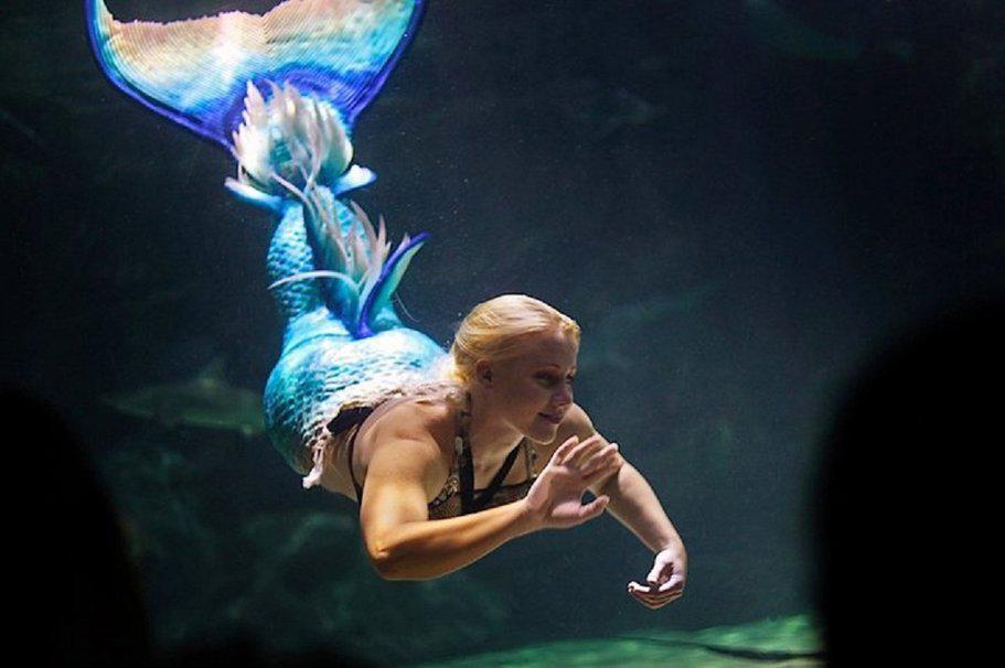 """Мелисса-звезда шоу """"Подводный мир"""", которое проходит в США"""