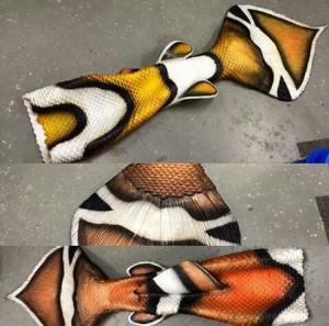 Оригинальный силиконовый хвост русалки