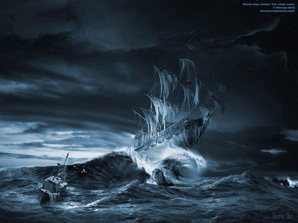 Летучий Голландец в море