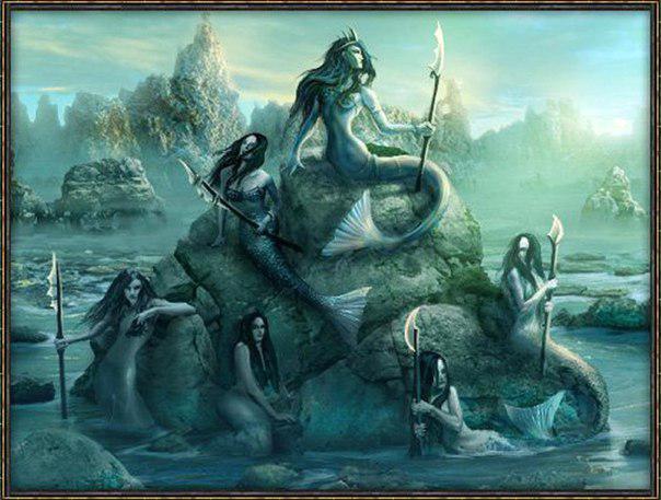 Сирены сидели на скалах и привлекали путников своими чарующими песнями