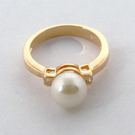 Кольцо своими руками с жемчужиной на морскую тематику