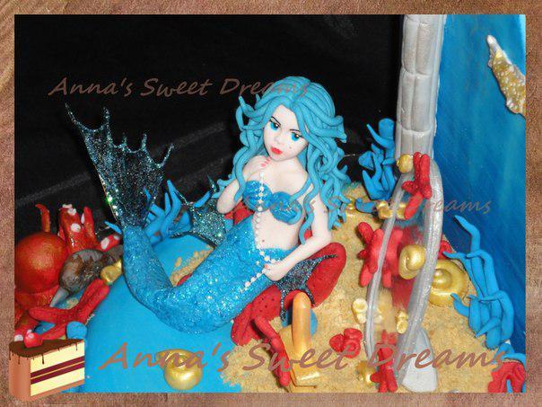 Хвост русалки для куклы из пластилина