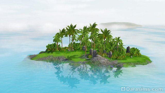 Остров русалок в симс три