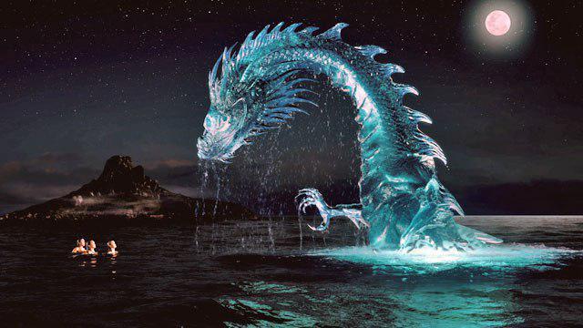 В третьем сезоне тайны острова мако появляется огромный водяной дракон