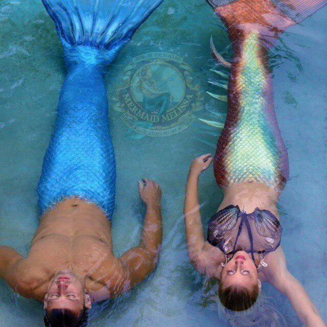 Русалка Мелиса с мужем, в тройке самых известных русалок в мире