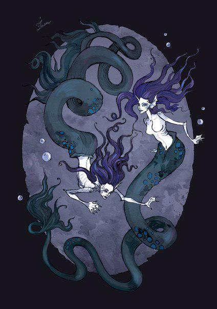 Mermaids dance