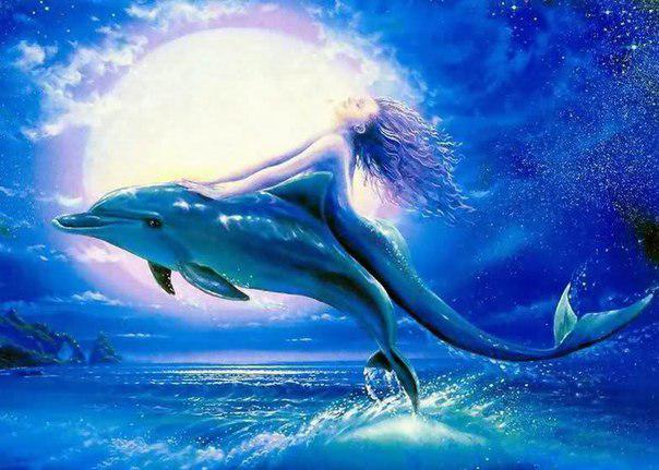 Русалки любят играть с дельфинами