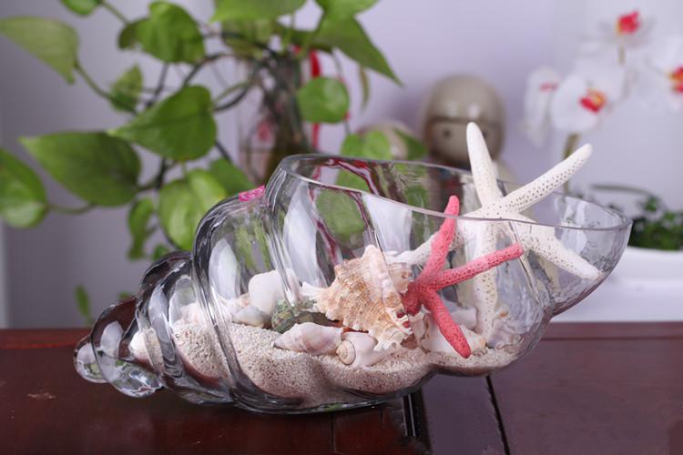 Оригинальная вазочка ракушка как предмет морского декора