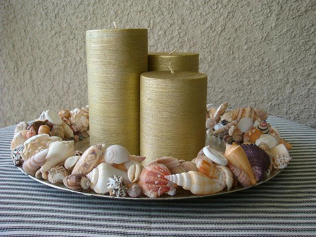 Морской декор: подсвечник.