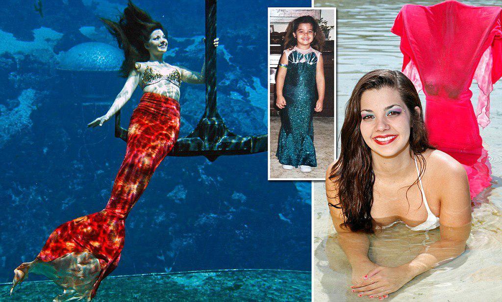 Андреа с детства мечтала стать настоящей русалкой