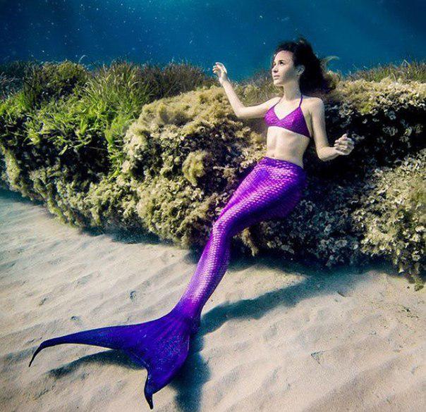 Розово-фиолетовый хвост поможет тебе стать русалкой принцессой