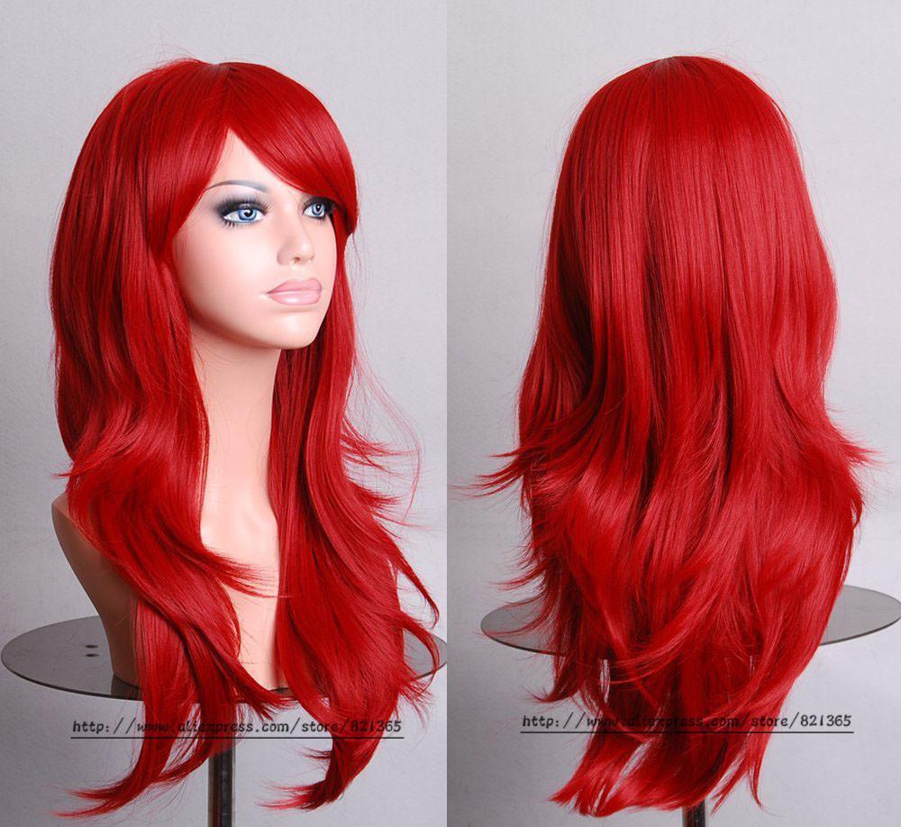 Образ русалки поможет создать ярко-красный парик
