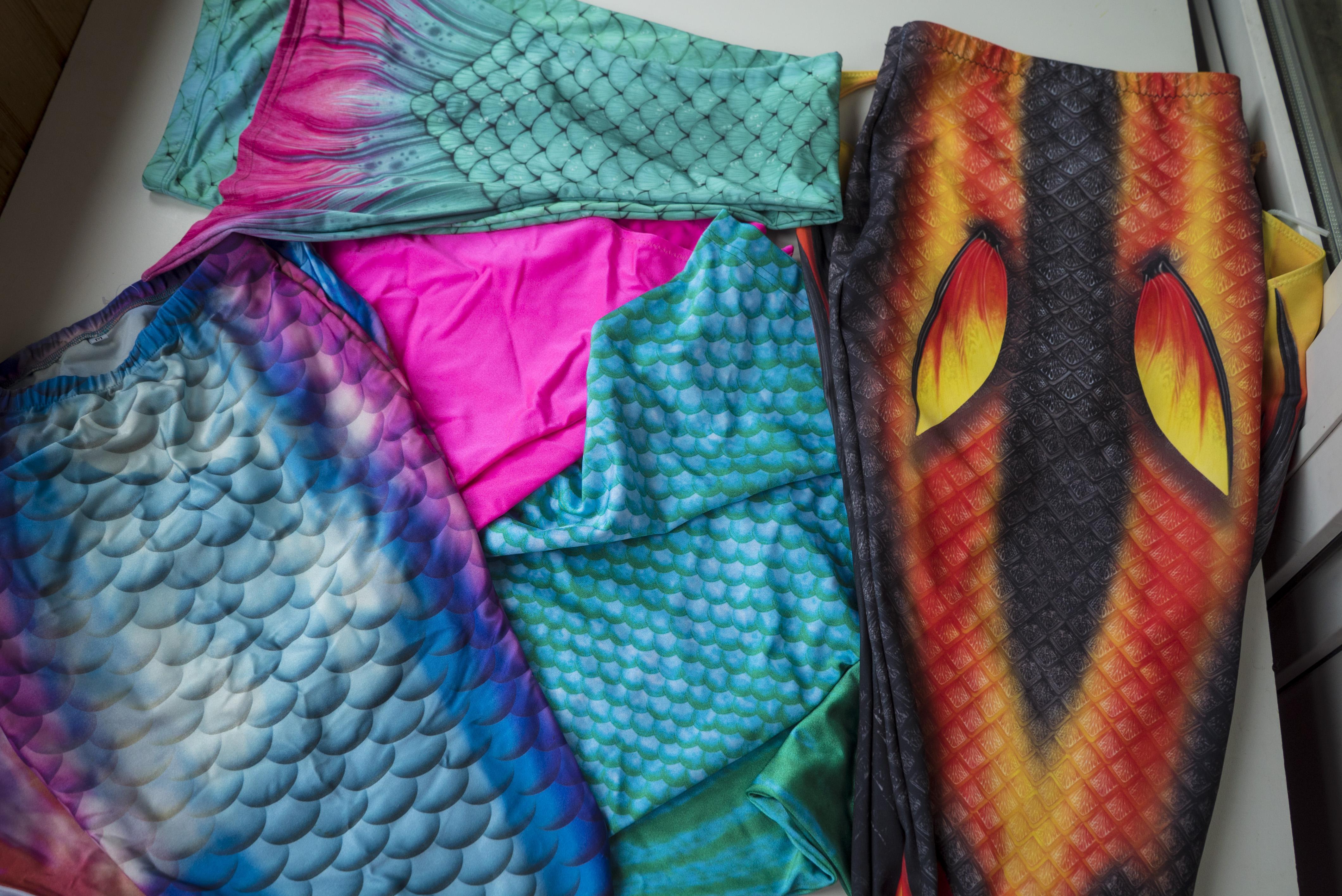 Разные чешуйчатые ткани хвостов от разных производителей- тест