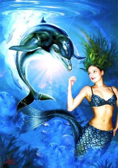 Лучшие друзья русалок -дельфины