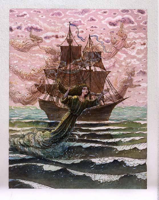 Русалочка Андерсена иллюстрации Бориса Диодорова рисунок 1