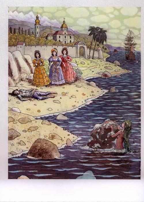 Русалочка Андерсена иллюстрации Бориса Диодорова рисунок 2
