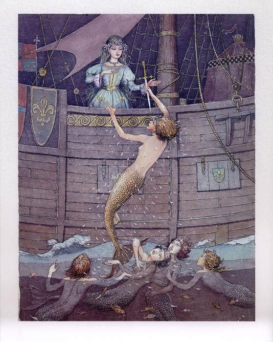 Русалочка Андерсена иллюстрации Бориса Диодорова рисунок 9
