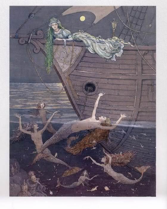 Русалочка Андерсена иллюстрации Бориса Диодорова рисунок 12
