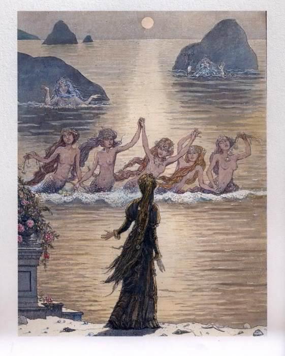 Русалочка Андерсена иллюстрации Бориса Диодорова рисунок 15