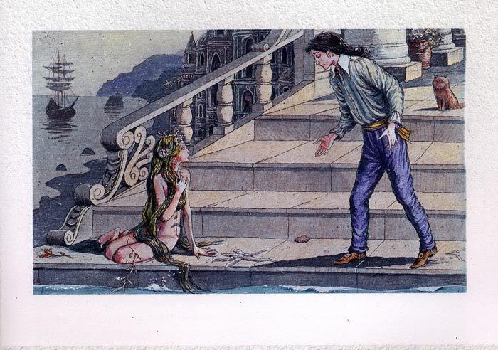 Русалочка Андерсена иллюстрации Бориса Диодорова рисунок 13