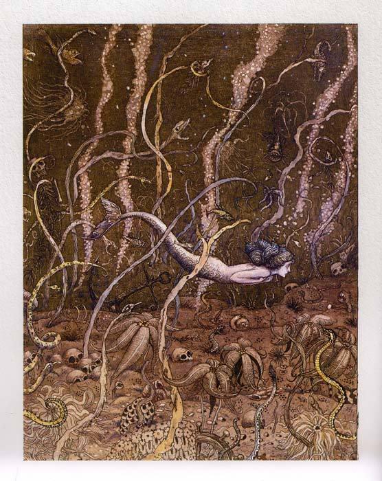Русалочка Андерсена в иллюстариях Бориса Диодорова рисунок из книги