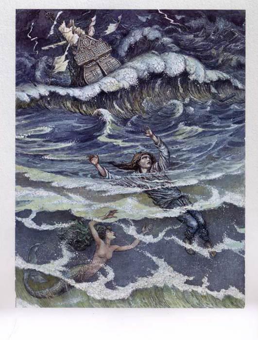 Русалочка Андерсена иллюстрации Бориса Диодорова рисунок 3