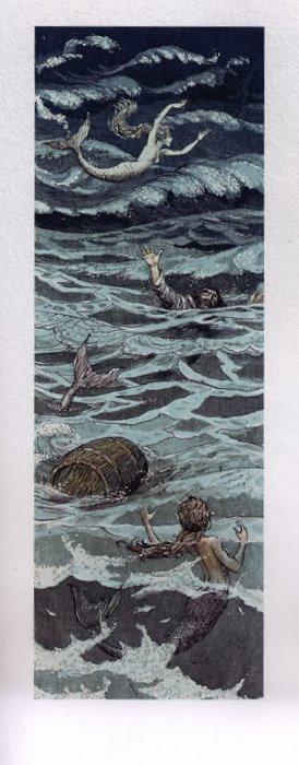Русалочка Андерсена иллюстрации Бориса Диодорова рисунок 6