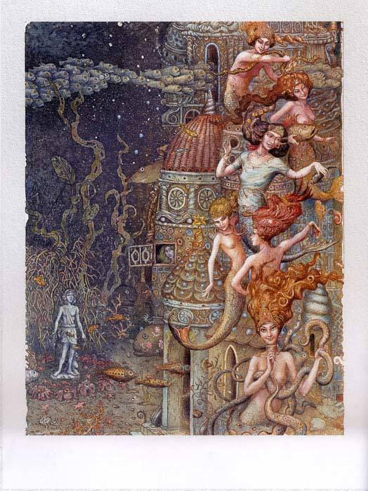 Русалочка Андерсена иллюстрации Бориса Диодорова рисунок 11