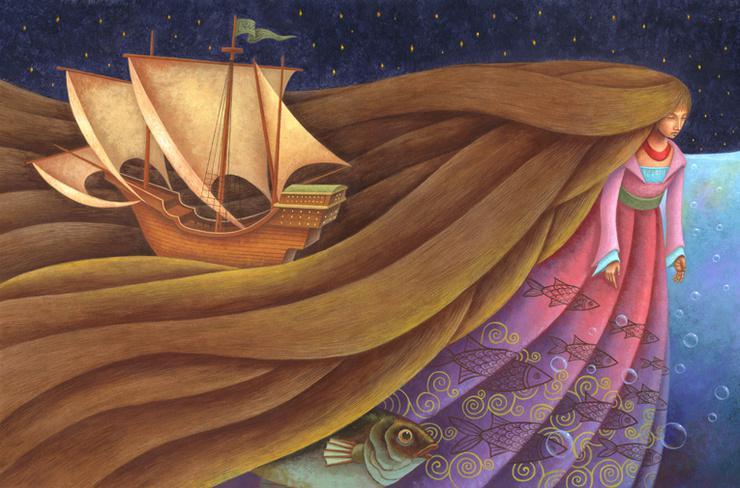 Русалочка в рисунках Kim Sam Hyuen
