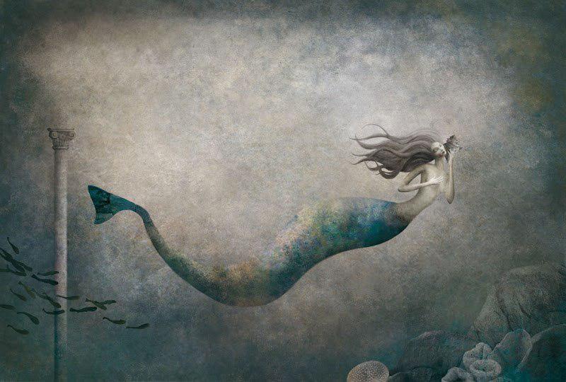 Иллюстрации к сказке русалочка Габриэля Пачеко