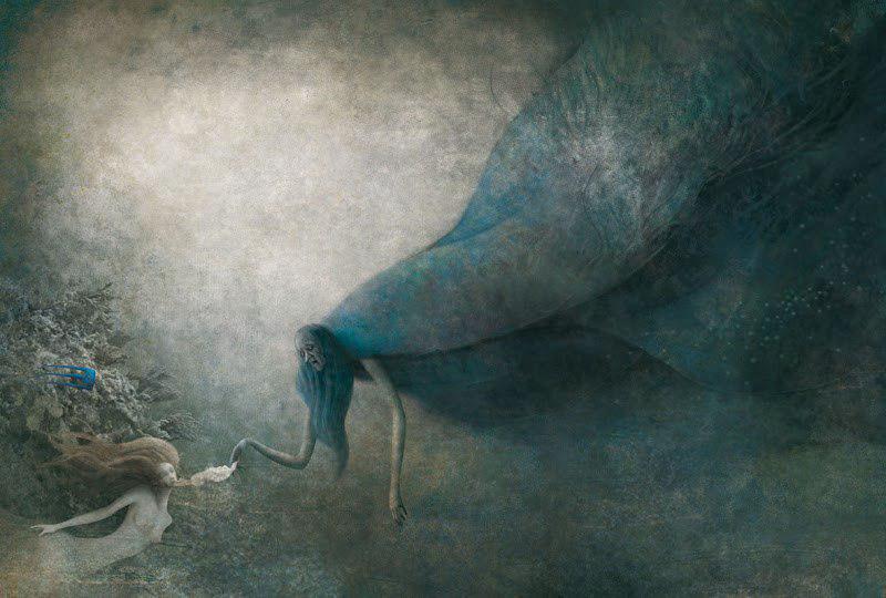 Русалочка и ведьма в иллюстрациях Габриэля Пачеко