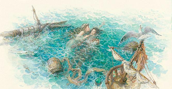 Русалочка Андерсен в иллюстрациях Антона Ломаева, 2012 рисунок 10