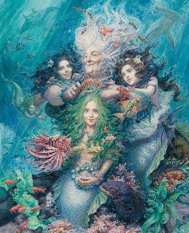 Русалочка Андерсен в иллюстрациях Антона Ломаева, 2012 рисунок 2