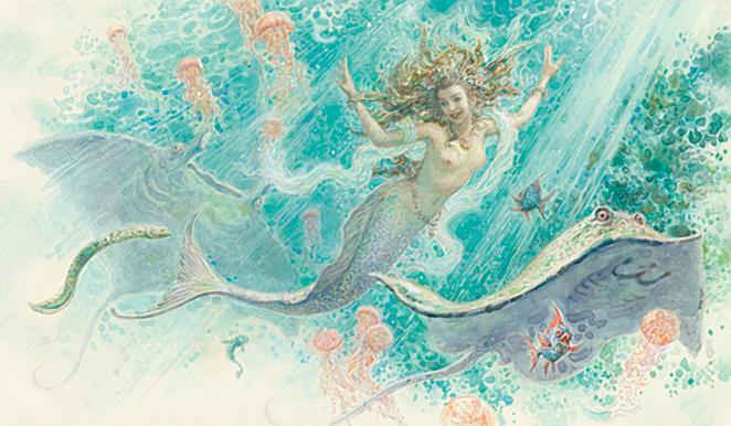 Русалочка Андерсен в иллюстрациях Антона Ломаева, 2012 рисунок 4