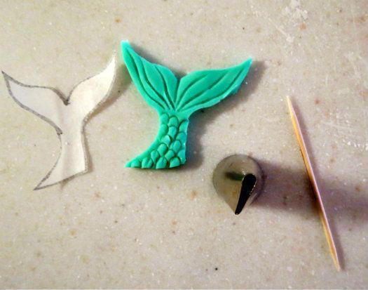 самодельный кулон в виде хвоста русалки