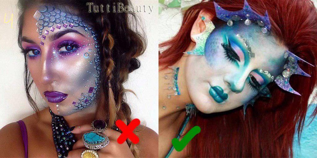 макияж русалки