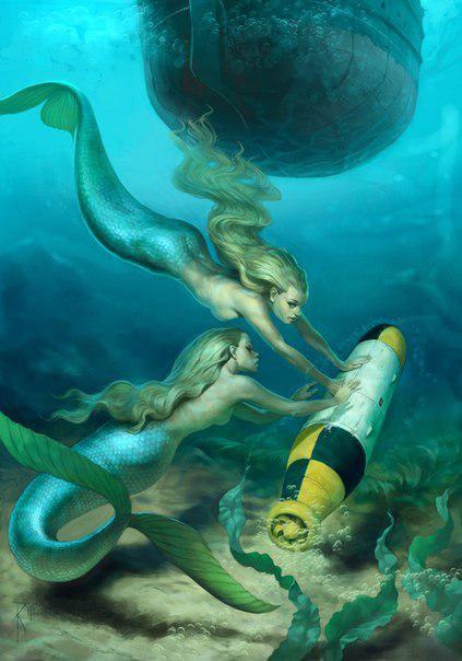 рисунки русалок в видении художника владимира казака