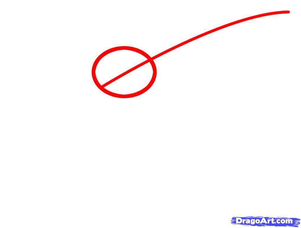 Как нарисовать кальмара шаг 1