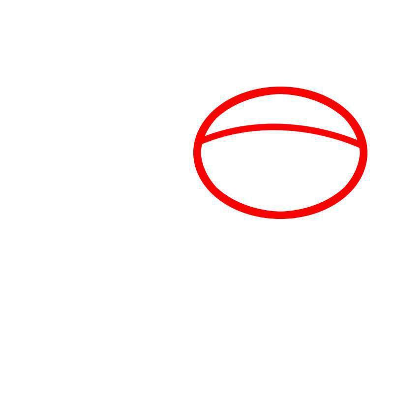 Как нарисовать крылатку, шаг 1